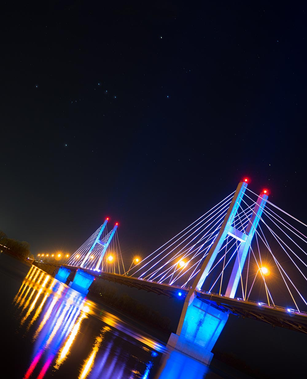 Orion over the Quincy Bridge